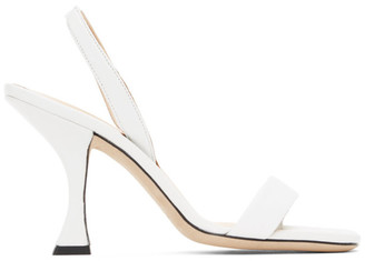 BY FAR White Lotta Heeled Sandals