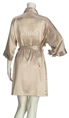 Lillian Rose Champagne Satin Bride Robe (S/M)