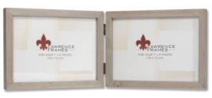 """Lawrence Frames Hinged Double Gray Wood Picture Frame - Gallery Collection - 5"""" x 7"""""""