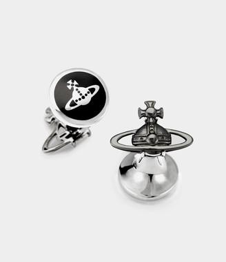 Vivienne Westwood Suzon Orb Cufflinks Silver/Gunmetal Tones