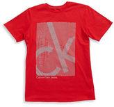 Calvin Klein Jeans Boys 8-20 Cotton Logo Graphic Tee