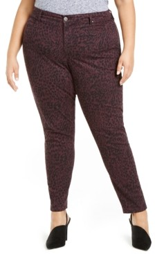 Style&Co. Style & Co Plus Size Curvy-Fit Tummy-Control Printed Jeans, Created for Macy's