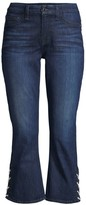 7 For All Mankind Jen7 By Lace-Up Cropped Bootcut Jeans