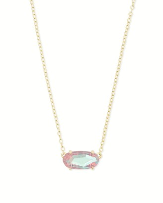 Kendra Scott Ever Gold Pendant Necklace in Blush Dichroic Glass