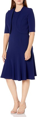 Maya Brooke Women's Solid Jacket Dress