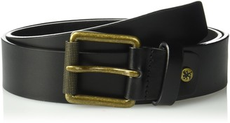 Stacy Adams Men's 38mm Genuine Leather Jean Belt with Brass Roller Buckle