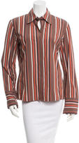 Akris Punto Striped Button-Up Top