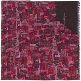 Salvatore Ferragamo church print scarf - men - Silk/Cashmere/Wool - One Size