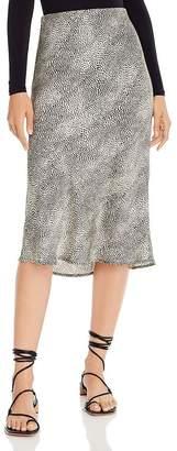 re:named apparel Re:Named Animal-Print Midi Skirt
