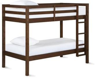 Dorel Living Lowri Twin over Twin Bunk Bed, Mocha