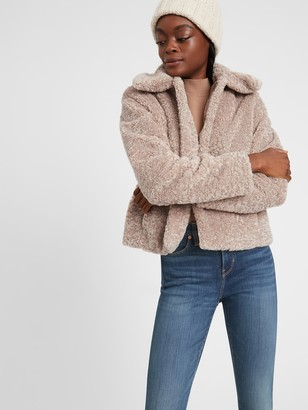 Banana Republic Petite Sherpa Short Coat