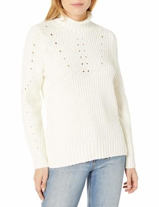 Kensie Women's Pointelle Turtleneck Sweater