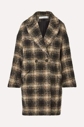IRO Karsh Double-breasted Checked Bouclé Coat - Black