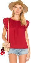 The Great The Tassel Flutter Top in Red. - size 0 / XS (also in 1 / S,2 / M,3 / L)