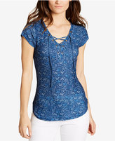 William Rast Gordon Lace-Up Top