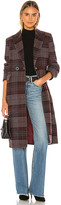 KENDALL + KYLIE Plaid Overcoat