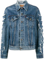 R 13 x Levis repurposed denim jacket