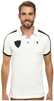 U.S. Polo Assn. Slim Fit Shoulder Stripe Polo