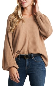 1 STATE Trendy Plus Size V-Neck Sweater