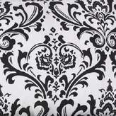 Cotton Tale Designs Girly Flowers Fabric, White Background with Black