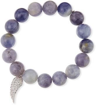 Sydney Evan 14k Diamond Wing & Iolite Bracelet