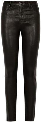 J Brand Maria high-rise leather skinny jeans