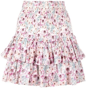 Etoile Isabel Marant Naomi floral ruffle skirt