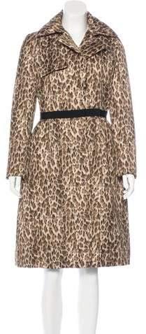 Giambattista Valli Leopard Print Long Coat