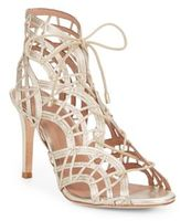Joie Leah Metallic Leather Lace-Up Sandals
