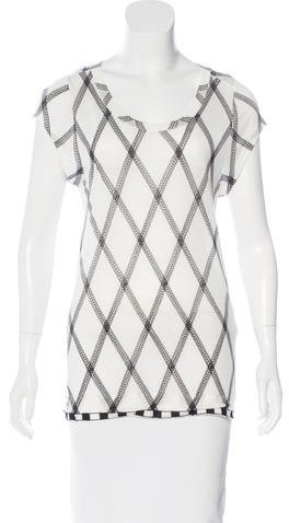 By Malene Birger Printed Short Sleeve T-Shirt