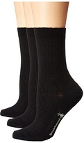 Smartwool Cable 3-Pack (Black) Women's Crew Cut Socks Shoes