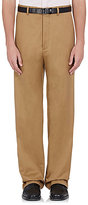 Balenciaga Men's Cotton-Blend Wide-Leg Trousers-Tan