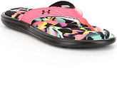 Under Armour Women's Marbella Slip-On Floral Thong Sandals