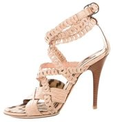 Roberto Cavalli Crocodile Multistrap Sandals
