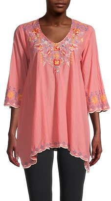 Johnny Was Rosetta Cotton Tunic Top