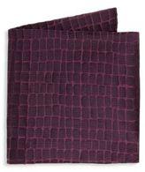 Armani Collezioni Large Caiman Silk Pocket Square