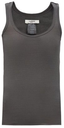 Etoile Isabel Marant Louisanea Ribbed Cotton-jersey Tank Top - Dark Grey