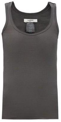 Etoile Isabel Marant Louisanea Ribbed Silk-jersey Tank Top - Dark Grey