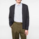 Paul Smith Men's Charcoal Grey Merino-Wool Cardigan