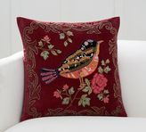 Pottery Barn Bianca Bird Embellished Appliqué Pillow Cover