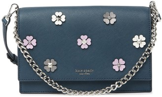 Kate Spade Leather Cameron Spade Flower Applique Crossbody Bag