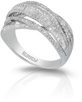 Effy Jewelry Pave Classica 14K White Gold Diamond Ring, .98 TCW