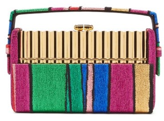 BIENEN-DAVIS Xenon Striped-brocade Minaudiere Clutch - Multi