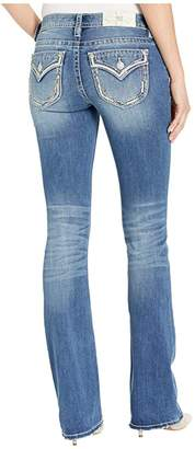 Miss Me Border Trim Chloe Bootcut Jeans in Medium Blue
