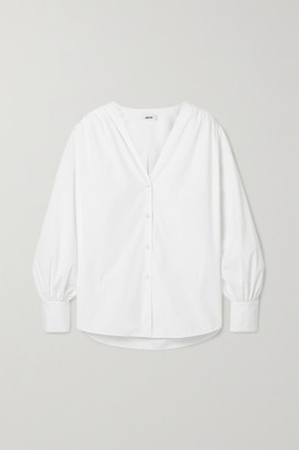 Jason Wu Oversized Cotton-blend Poplin Shirt - Off-white