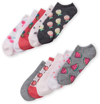 Highpoint High Point 10-Pack Fruit Printed Ankle Socks
