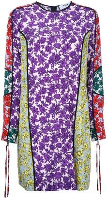 MSGM Printed Panel Shift Dress