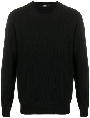 Karl Lagerfeld Paris Round Neck Wool Jumper