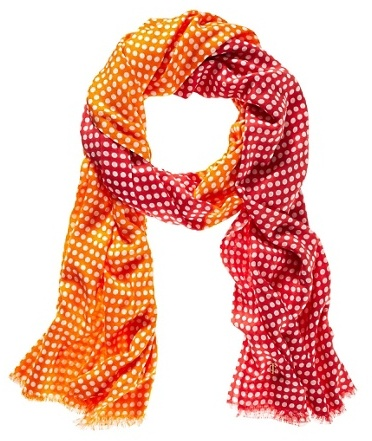 Juicy Couture Polka Dot Oblong Scarf