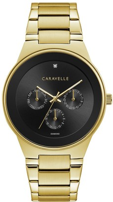 Caravelle by Bulova Men's Goldtone Diamond Accent Watch